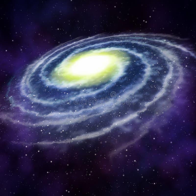 Галактика в космосе иллюстрация штока