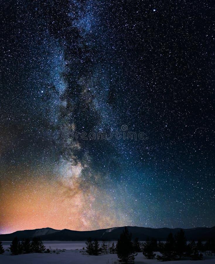Галактика млечного пути стоковое изображение