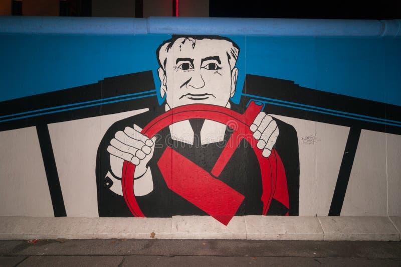 Галерея Ист-Сайд - Горбачев стоковая фотография