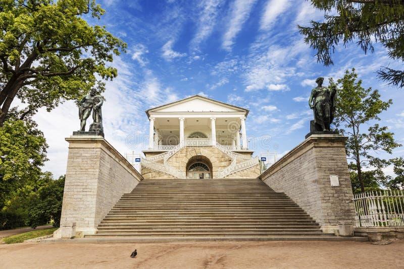 Галерея Камерона в парке Катрина в Tsarskoye Selo около Санкт-Петербурга стоковые фото