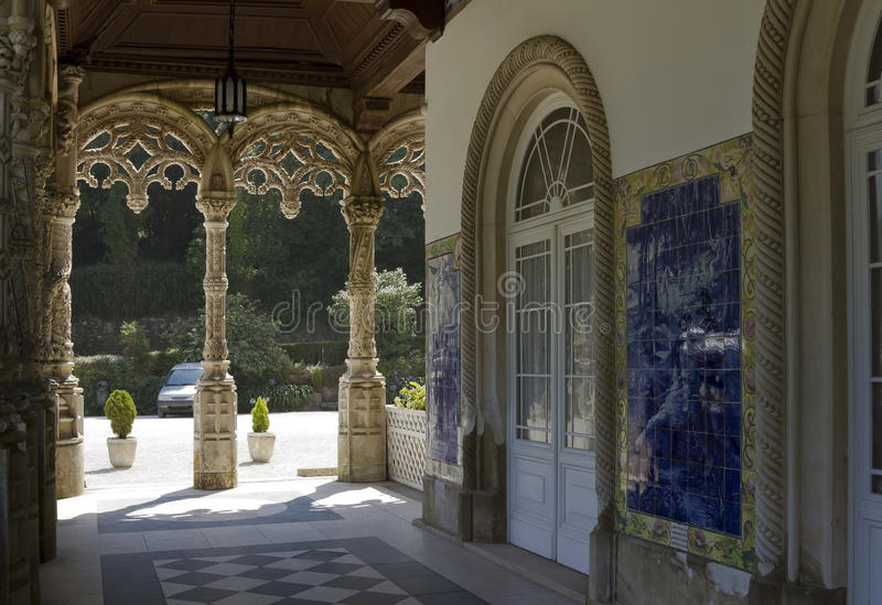 Галерея национального дворца Bussaco стоковая фотография rf