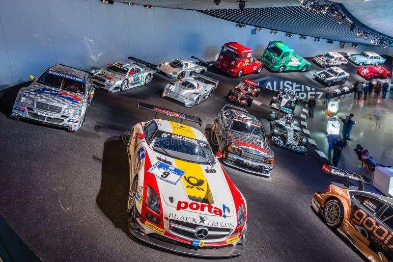 Галерея спорт и гоночные автомобили различных классов стоковые фотографии rf