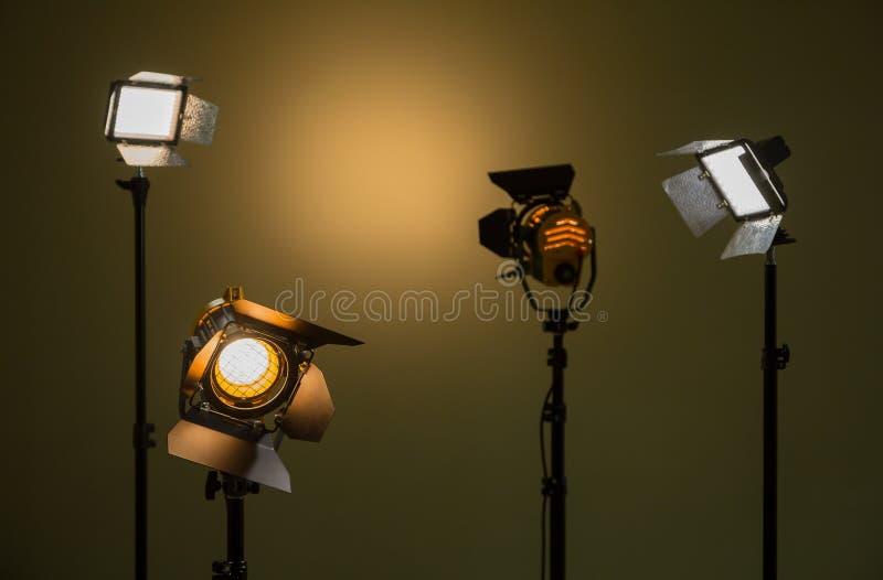 Галоид и света приведенные Фары с объективами Fresnel стоковые изображения