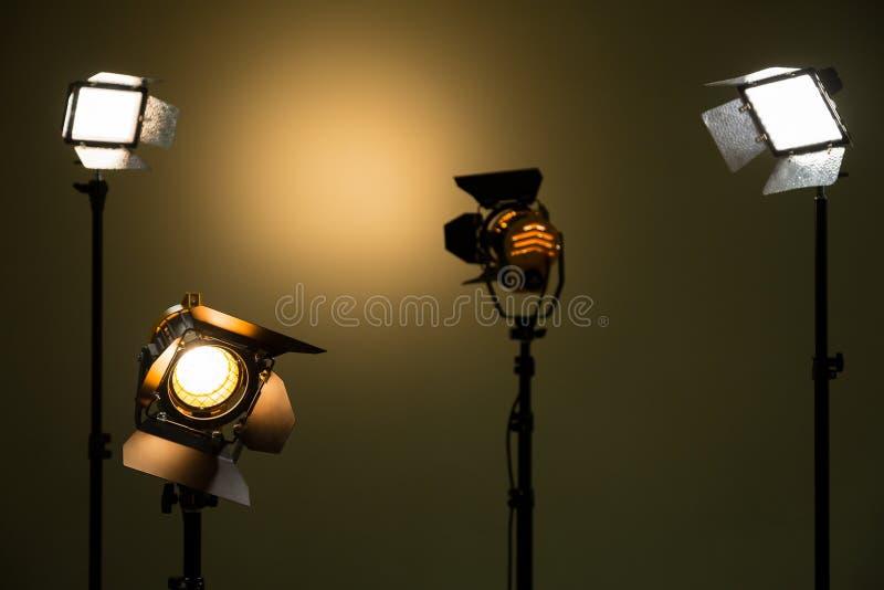 Галоид и света приведенные Фары с объективами Fresnel стоковое фото rf