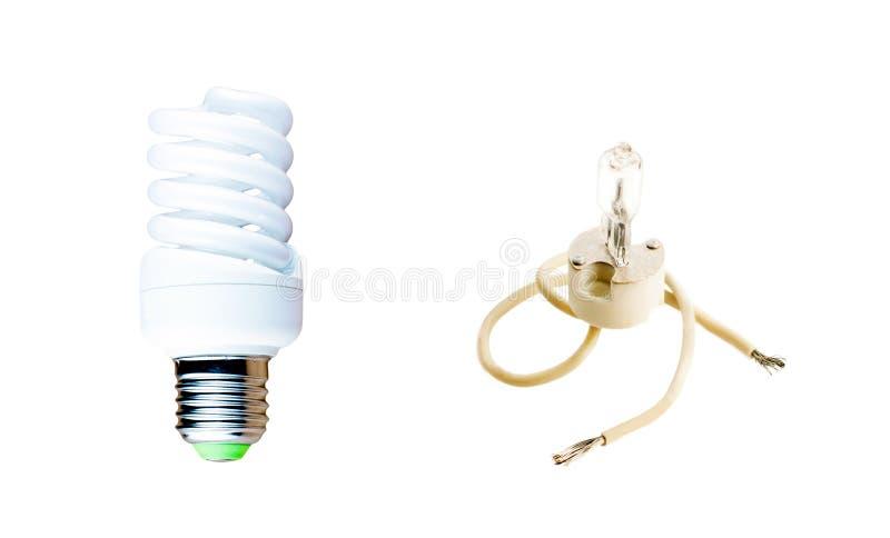 Галоид и люминесцентная лампа стоковые изображения rf