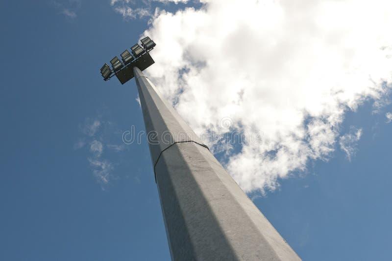 Галоид освещает поле спорта стоковая фотография rf
