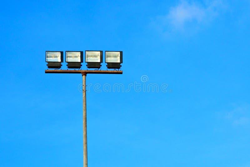 Галоид фары с голубым небом стоковые изображения