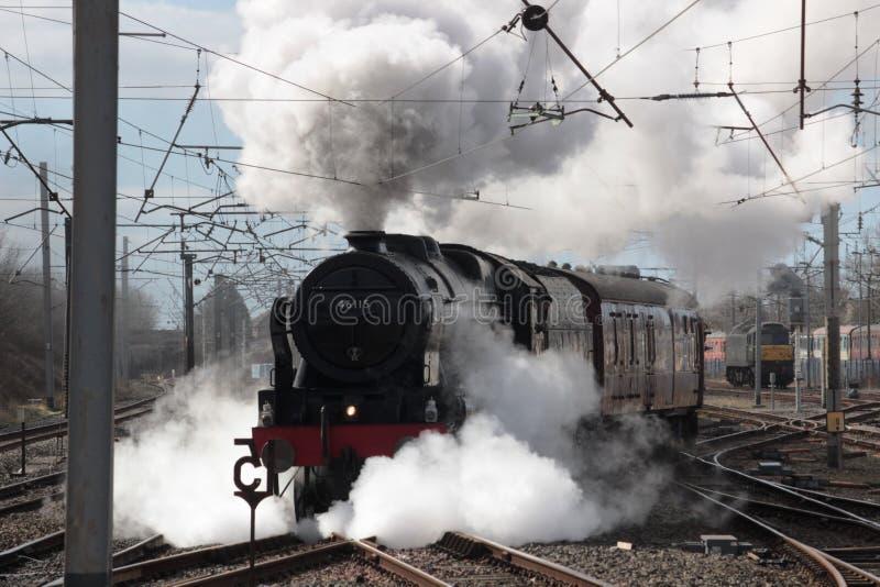 Гвардеец локомотива пара 46115 Scots, Carnforth стоковые изображения rf