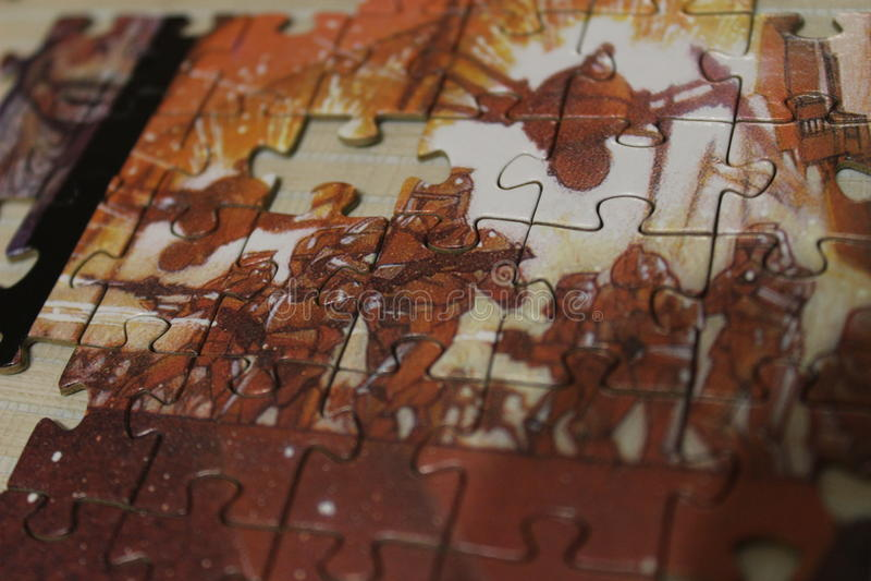 Гвардейцы головоломки стоковое фото