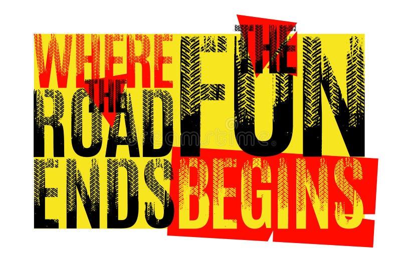 Где дорога кончается потеха начинает бесплатная иллюстрация