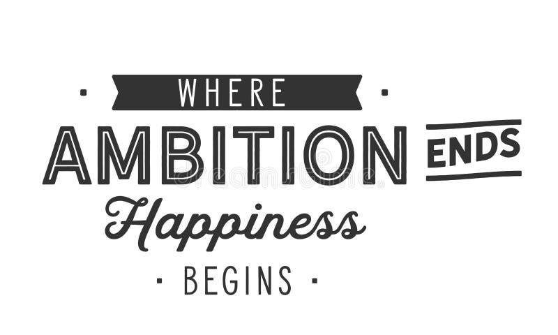 Где счастье концов гонора начинает бесплатная иллюстрация