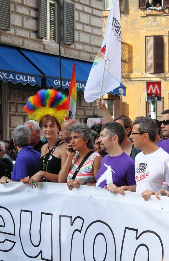Гей-парад евро Рима стоковая фотография
