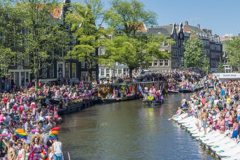 Гей-парад Амстердам август 2013 стоковое изображение rf