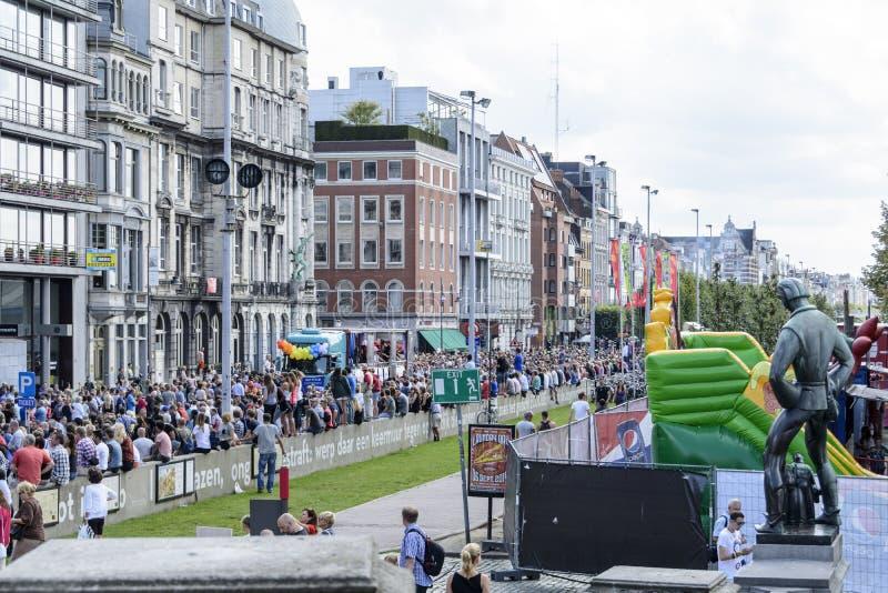 Гей-парад 2014 Антверпена стоковое изображение rf