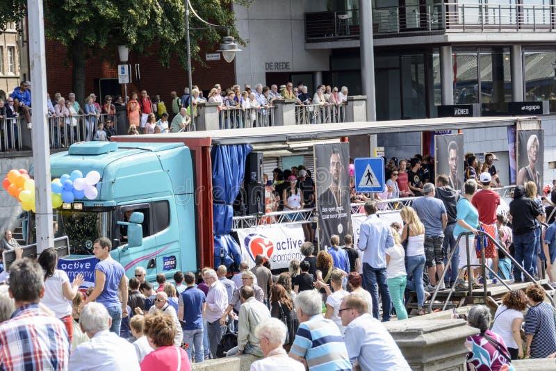 Гей-парад 2014 Антверпена стоковая фотография rf