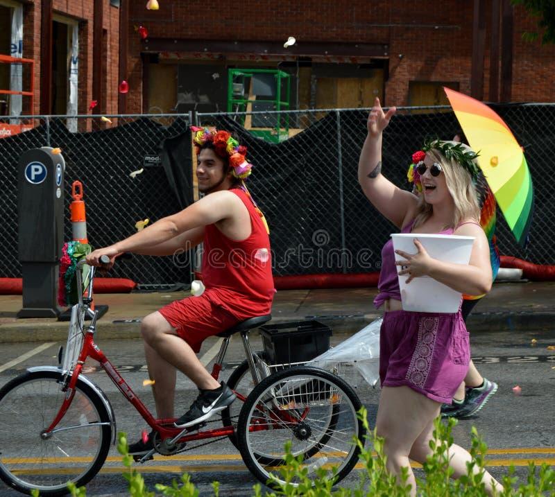 Гей-парад Fayetteville AR 2016 стоковая фотография rf