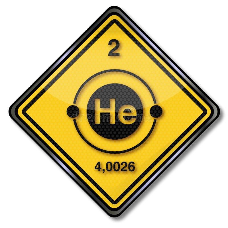 Гелий характера химии знака иллюстрация вектора