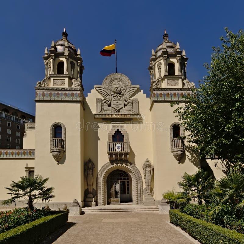 Генеральное консульство Колумбии в Севилье, Испании стоковое изображение rf
