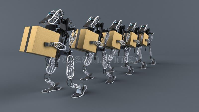 Генеративная автоматизация - иллюстрация 3D иллюстрация штока