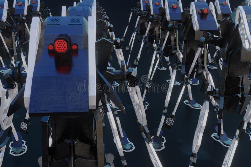 Генеративный робот - иллюстрация 3D иллюстрация вектора