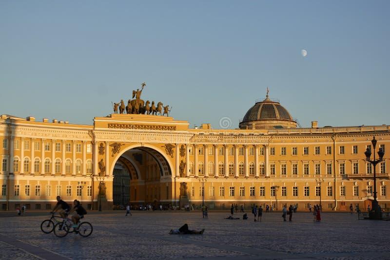 Генеральный штаб строя Санкт-Петербург стоковая фотография rf