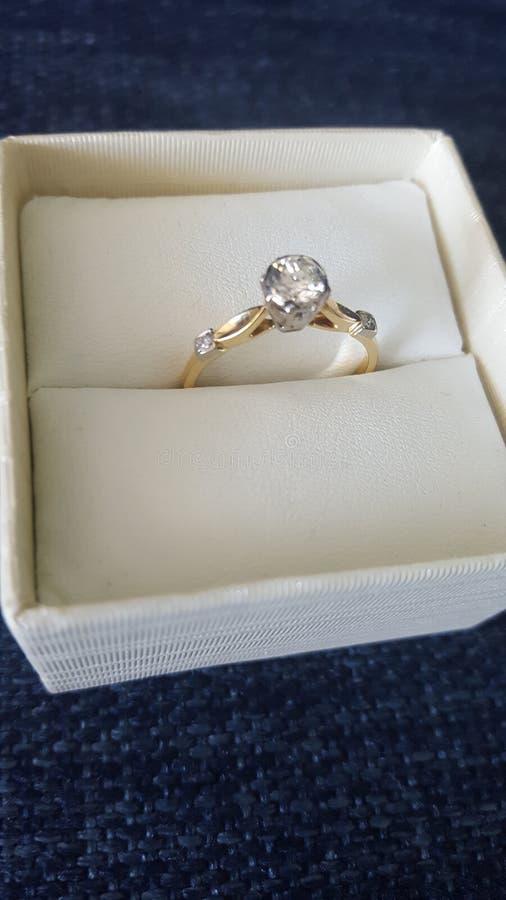 Гениальное кольцо с бриллиантом для особенного дня рождения на пляжном домике, Coolangatta, Квинсленде, Австралии стоковое изображение rf