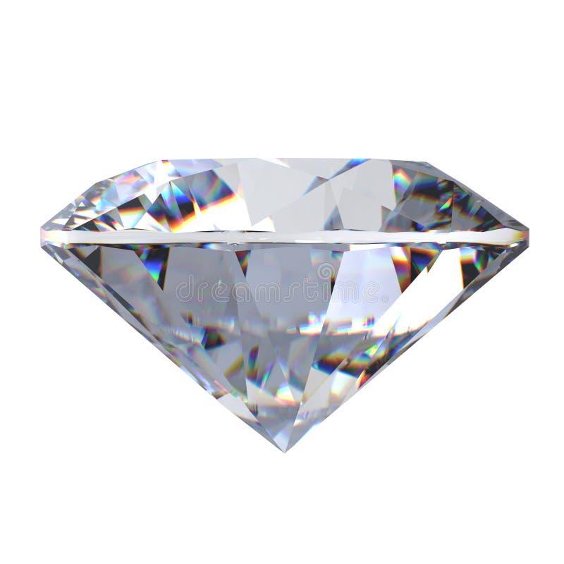 гениальный диамант отрезока 3d стоковое изображение rf