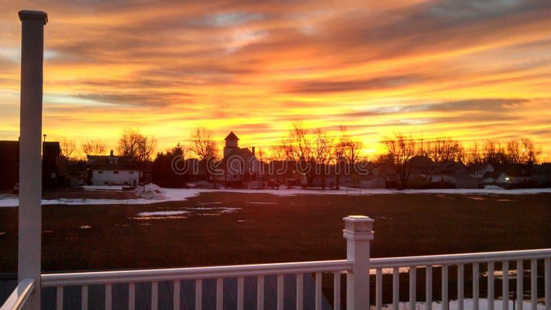 гениальный восход солнца стоковые фотографии rf