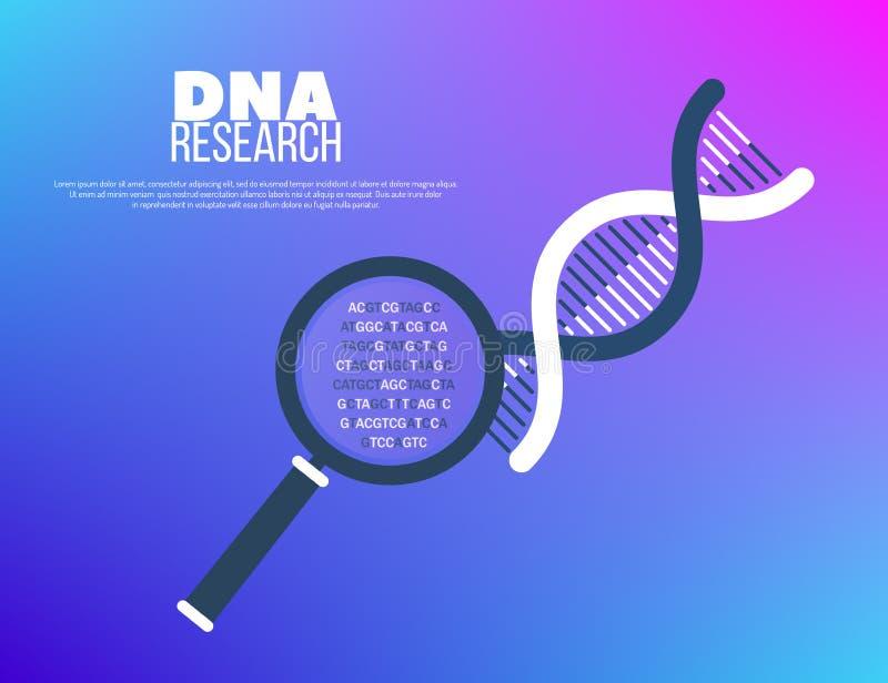 Генная инженерия и геном sequencing концепция иллюстрация вектора