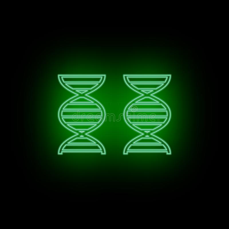 Геном, значок, ДНК, неон Биотехнология и наука, химическая лаборатория Может быть использовать infographic и presendation - значо иллюстрация вектора