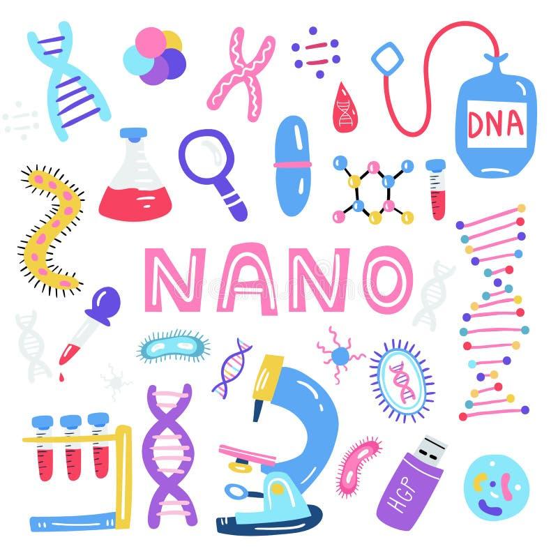 Геном руки вычерченный sequencing иллюстрация Человеческие символы технологии исследования дна бесплатная иллюстрация