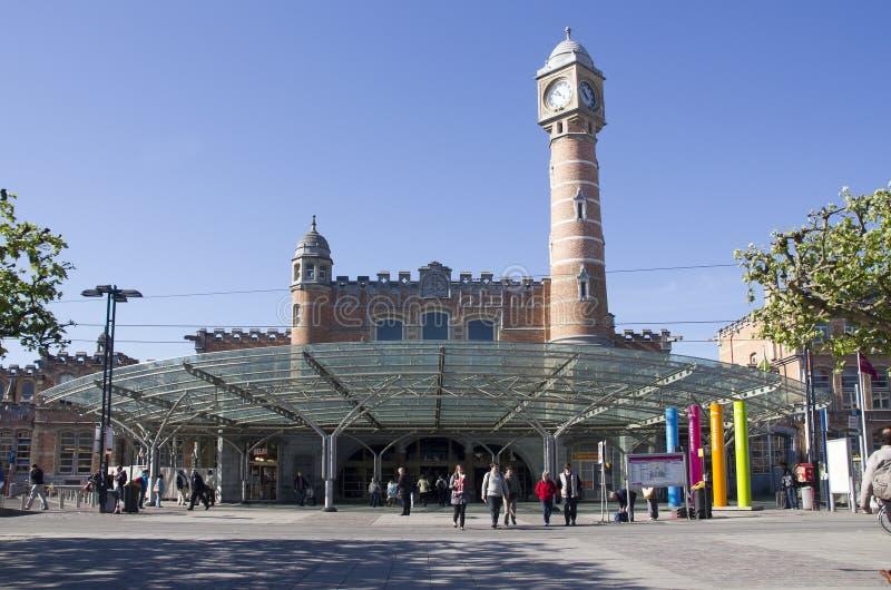 Железнодорожный вокзал Гента стоковые фото