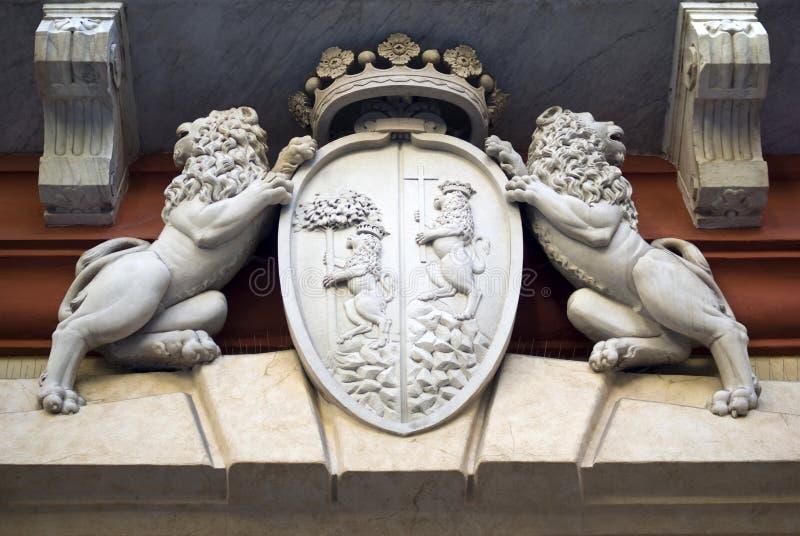 Гену-Италия Деталь фасада Palazzo Rosso стоковое изображение rf