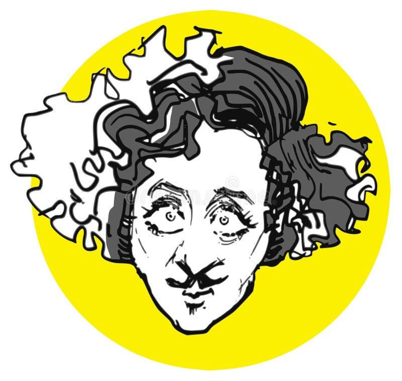 Ген, более одичалая карикатура иллюстрация вектора