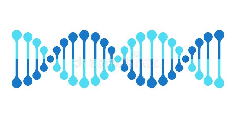 Ген винтовой линии генетики хромосомы значка вектора дна иллюстрация вектора