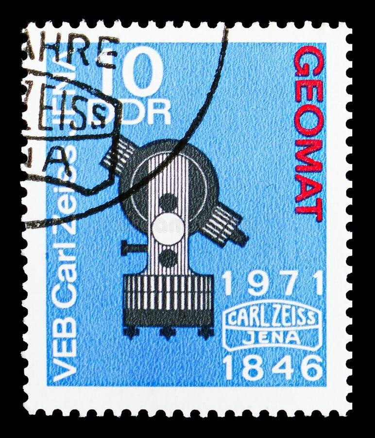 Геодезический получает «Dahlta 014 a», 125 лет serie Карл Zeiss Йены, около 1971 бесплатная иллюстрация