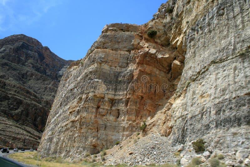 Геологохимическая структура песка в Неваде Скалы стоковое фото