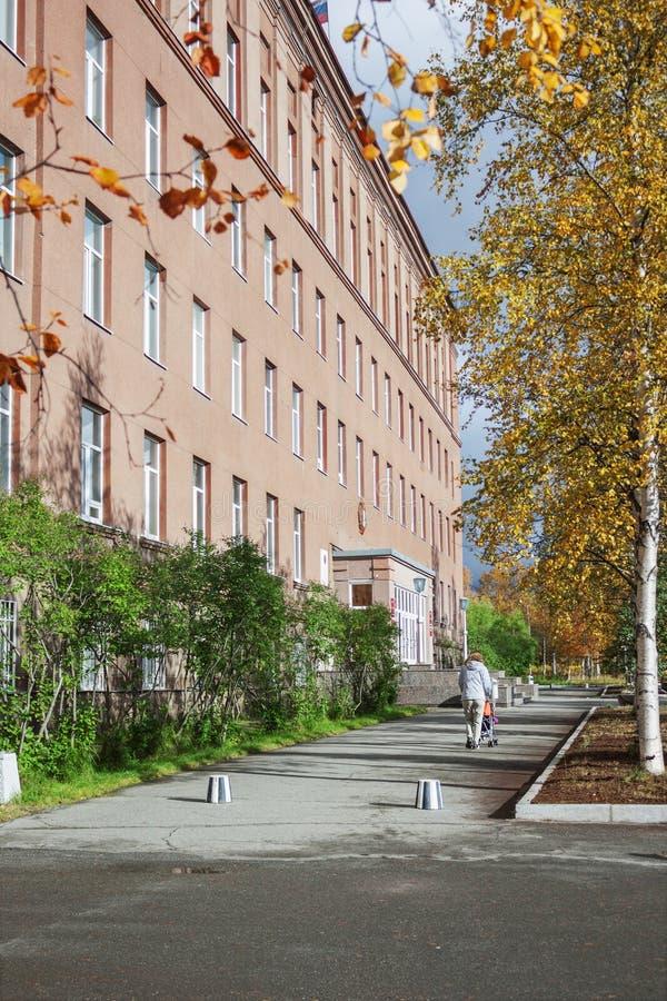 Геологохимический институт в городе Apatity Россия стоковое фото rf