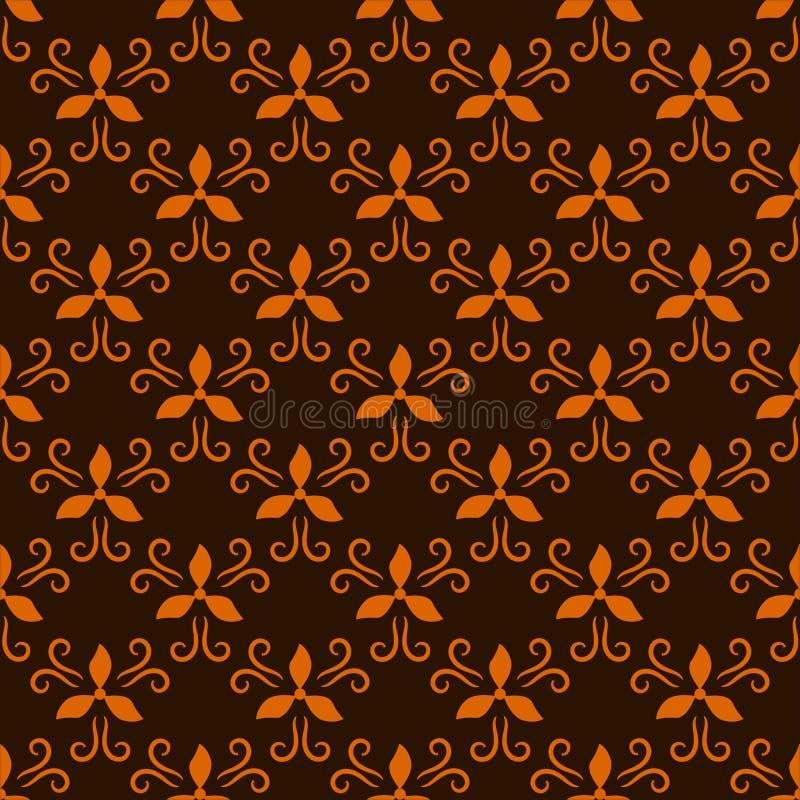 Геометрическая абстрактная безшовная картина на коричневой предпосылке иллюстрация вектора