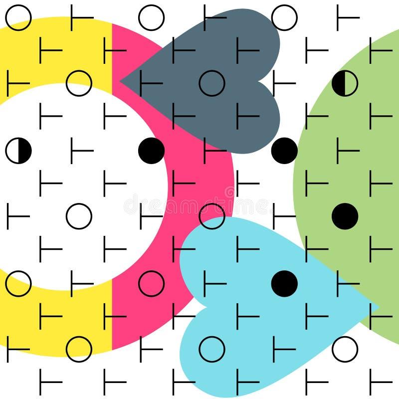 Геометрическая абстрактная безшовная предпосылка картины Цветастые формы иллюстрация вектора