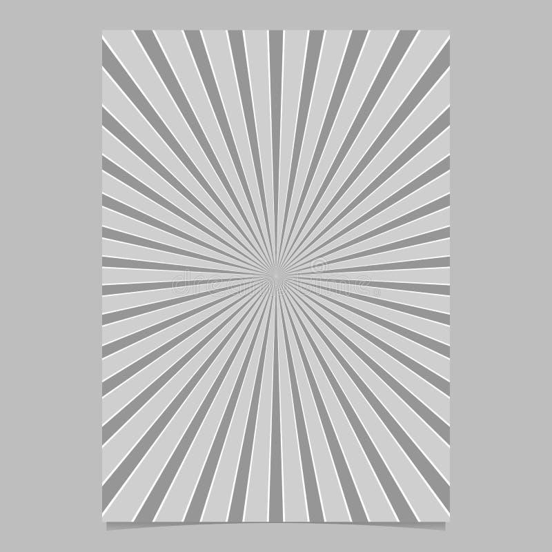 Геометрическая абстрактная звезда разрывала шаблон крышки - vector графический дизайн предпосылки страницы с радиальными лучами иллюстрация вектора