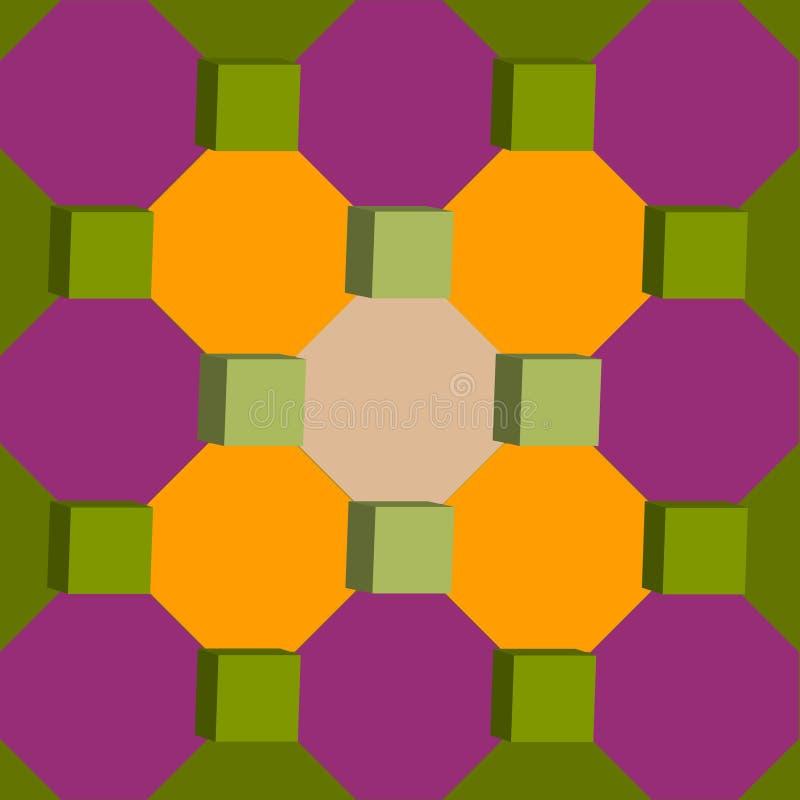 Геометрическая абстрактная иллюстрация формы 3d стоковые фотографии rf