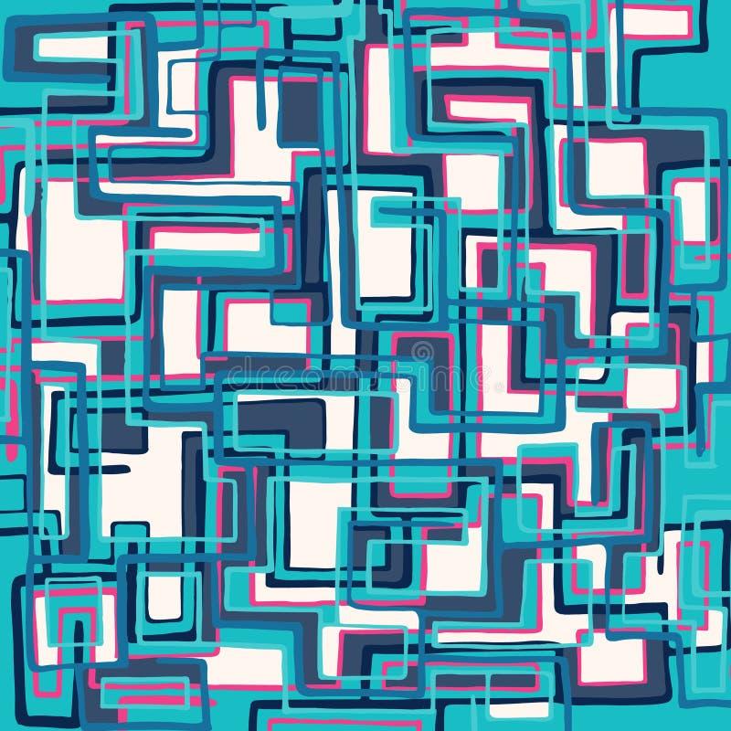 Геометрическая абстрактная картина цвета в стиле граффити качественная иллюстрация вектора для вашего дизайна иллюстрация вектора