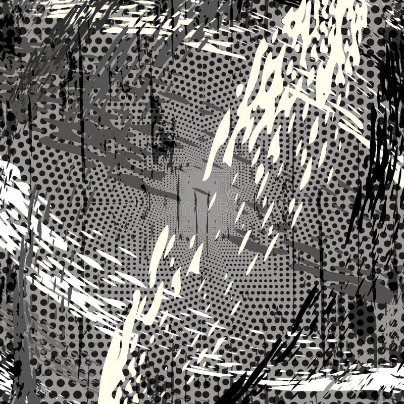 Геометрическая абстрактная предпосылка в серых цветах иллюстрация вектора
