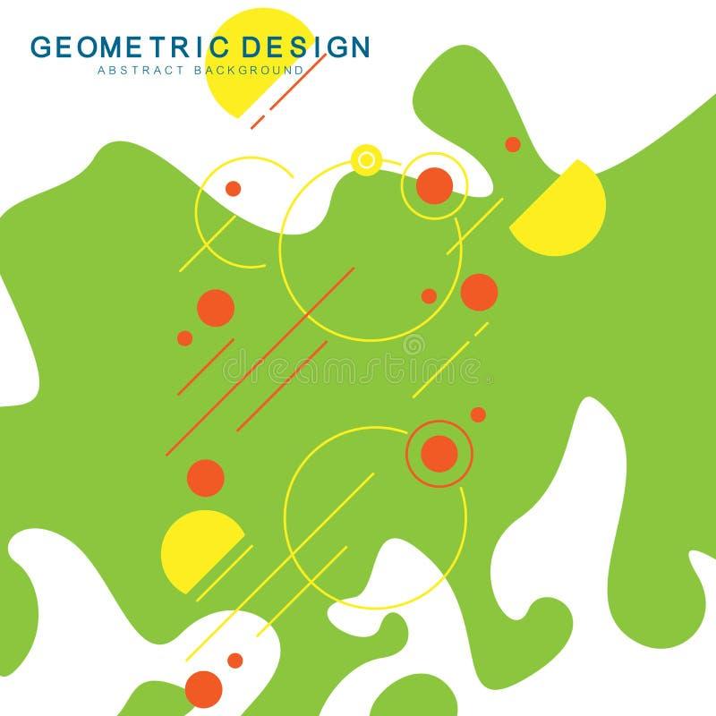 Геометрическая абстрактная предпосылка с геометрическими объектами в minimalistic плоском стиле Формы и выплеск Графическая предп бесплатная иллюстрация