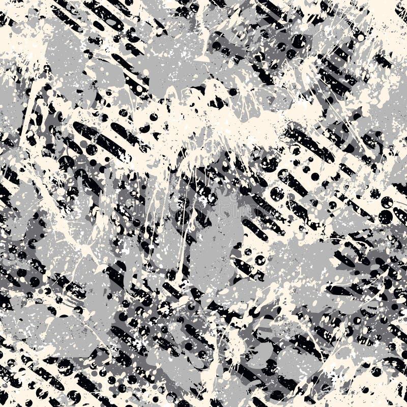 Геометрическая абстрактная striped картина иллюстрация штока