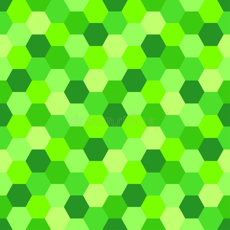 Геометрическая безшовная абстрактная предпосылка с формами шестиугольника как картина мозаики в ультрамодном зеленом цвете UFO 20 бесплатная иллюстрация