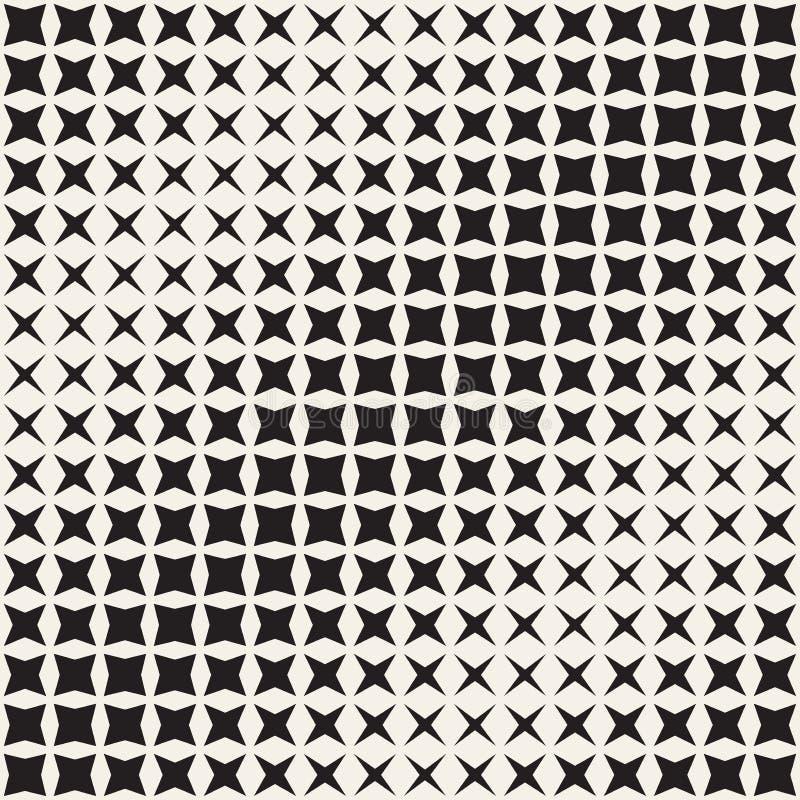 Геометрическая безшовная звезда формирует картину Влияние градиента полутонового изображения Стильная иллюстрация вектора бесплатная иллюстрация