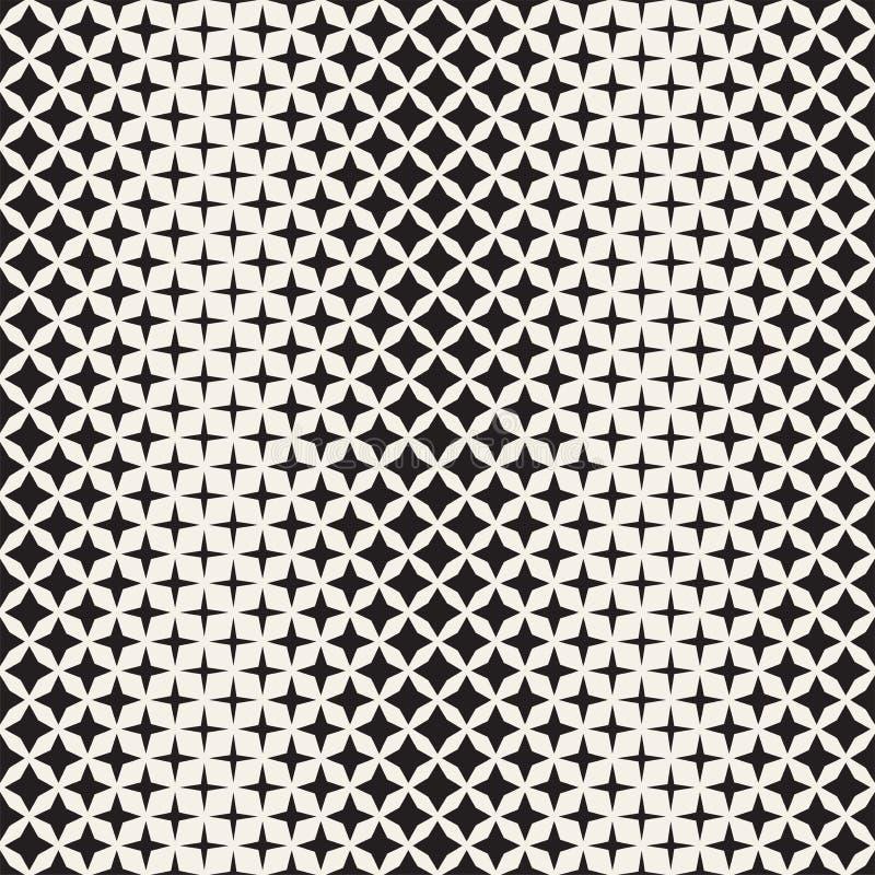 Геометрическая безшовная звезда формирует картину Влияние градиента полутонового изображения Стильная иллюстрация вектора иллюстрация штока