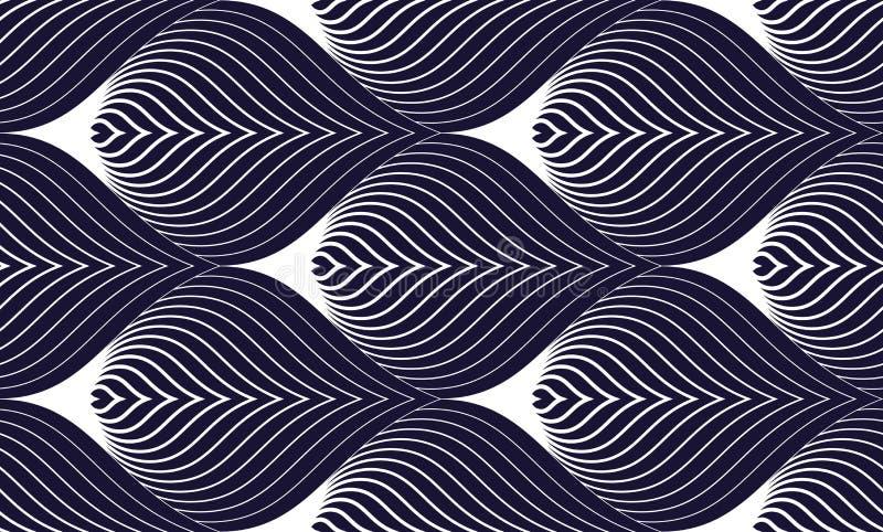 Геометрическая безшовная картина, абстрактная кроя черепицей предпосылка, иллюстрация обоев повторения вектора бесконечная Крыть  иллюстрация штока